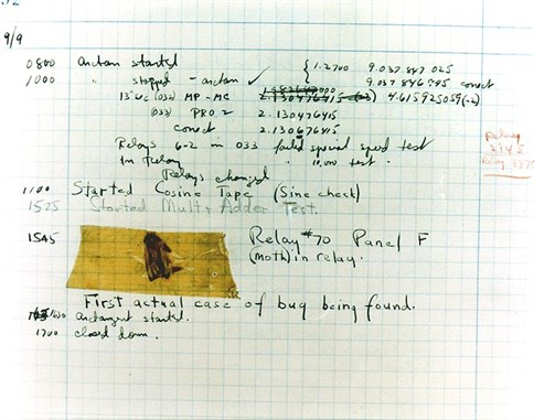 Grace Hopper _Diary _Bug _Public Domain _American Navy
